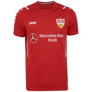 VfB Stuttgart Challenge Trainingsshirt Herren, rot / weiß, zoom bei OUTFITTER Online