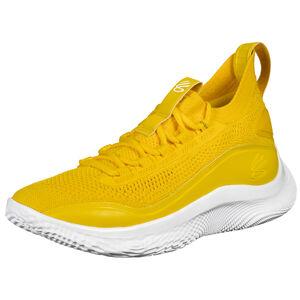 Curry 8 Basketballschuh Herren, gelb / weiß, zoom bei OUTFITTER Online