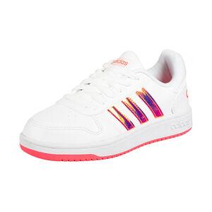 Hoops 2.0 Sneaker Kinder, weiß / pink, zoom bei OUTFITTER Online