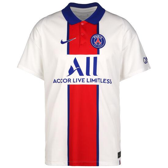 Paris St.-Germain Trikot Away Stadium 2020/2021 Herren, weiß / blau, zoom bei OUTFITTER Online