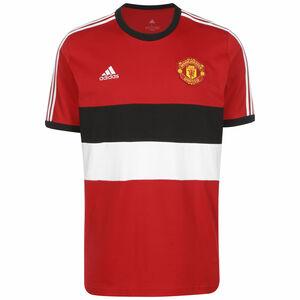 Manchester United 3-Streifen T-Shirt Herren, rot / schwarz, zoom bei OUTFITTER Online
