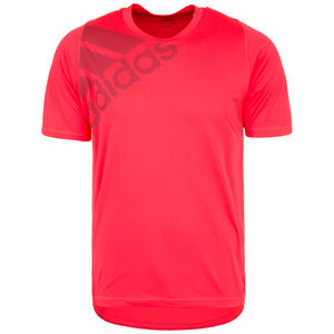FreeLift Badge of Sport Grapfic Trainingsshirt Herren, neonrot, zoom bei OUTFITTER Online