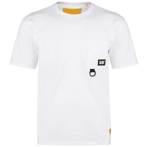 Caterpillar Ring Pocket T-Shirt Herren, weiß, zoom bei OUTFITTER Online