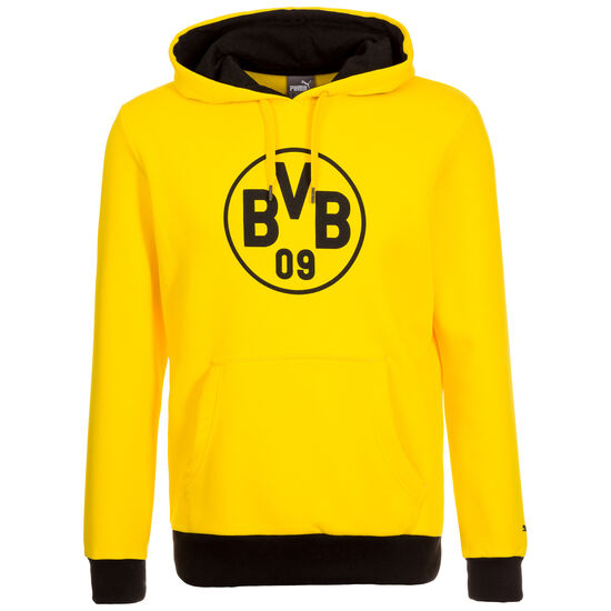 Borussia Dortmund Badge Kapuzenpullover Herren, Gelb, zoom bei OUTFITTER Online