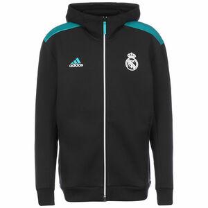 Real Madrid Z.N.E. Kapuzenjacke Herren, schwarz / petrol, zoom bei OUTFITTER Online