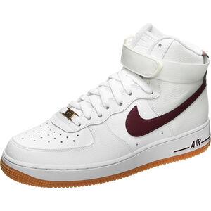 Air Force 1 High Sneaker Damen, weiß / rot, zoom bei OUTFITTER Online