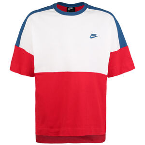 Sportswear Jersey Colour Block T-Shirt Herren, rot, zoom bei OUTFITTER Online