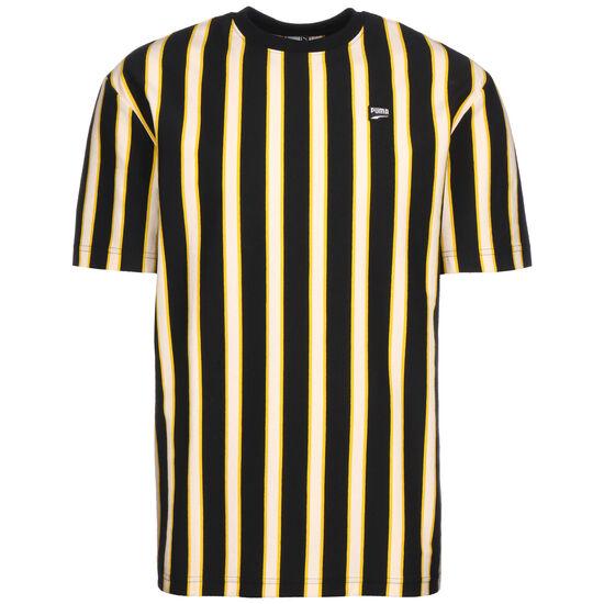 Downtown Stripe T-Shirt Herren, schwarz / gelb, zoom bei OUTFITTER Online