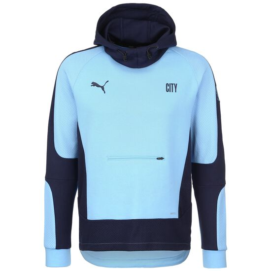 Manchester City Evostripe Kapuzenpullover Herren, hellblau / dunkelblau, zoom bei OUTFITTER Online