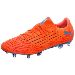 Future 19.1 NETFIT Low FG/AG Fußballschuh Herren, orange / blau, zoom bei OUTFITTER Online