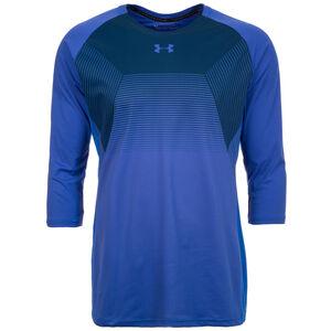 HeatGear Threadborne Vanish 3/4 Trainingsshirt Herren, blau / dunkelblau, zoom bei OUTFITTER Online