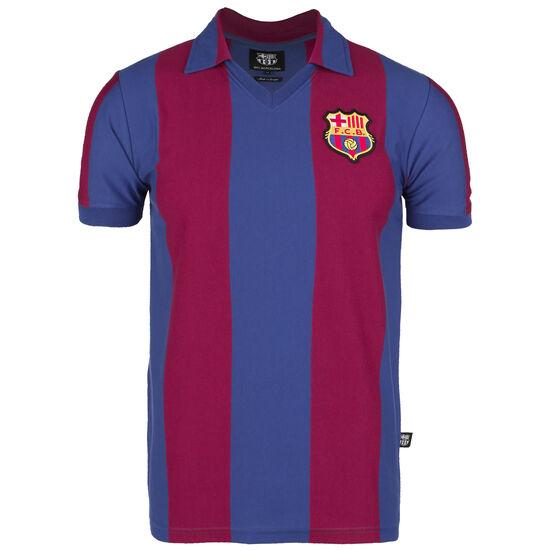FC Barcelona 1980/1981 Retro T-Shirt Herren, blau / weinrot, zoom bei OUTFITTER Online