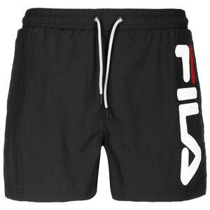 Michi Beach Shorts Herren, schwarz / weiß, zoom bei OUTFITTER Online