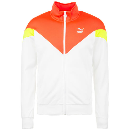 Iconic MCS Track Jacket Herren, weiß / orange, zoom bei OUTFITTER Online