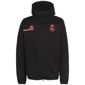 Real Madrid Z.N.E. Anthem Kapuzenjacke Herren, schwarz / rot, zoom bei OUTFITTER Online