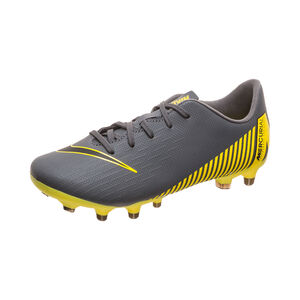 Mercurial Vapor XII Academy MG Fußballschuh Kinder, dunkelgrau / gelb, zoom bei OUTFITTER Online