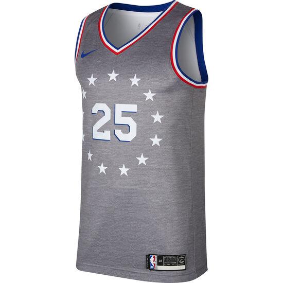 NBA Philadelphia 76ers #25 Simmons Basketballtrikot Herren, dunkelgrau, zoom bei OUTFITTER Online