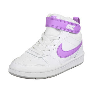 Court Borough Mid 2 Sneaker Kinder, weiß / lila, zoom bei OUTFITTER Online