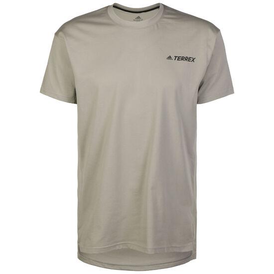 Primeblue Log Trainingsshirt Herren, beige / khaki, zoom bei OUTFITTER Online