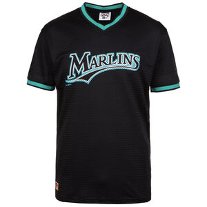 MLB Mesh Florida Marlins T-Shirt Herren, Schwarz, zoom bei OUTFITTER Online