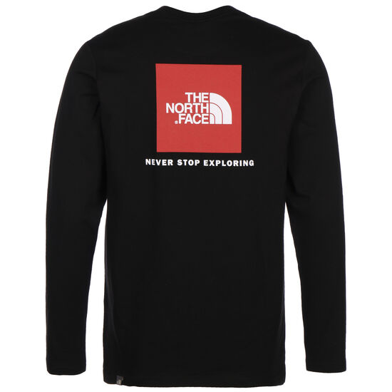 Red Box Longsleeve Herren, schwarz / rot, zoom bei OUTFITTER Online