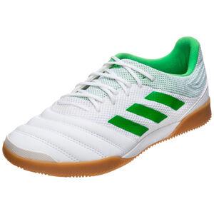 Copa 19.3 Sala Indoor Fußballschuh Herren, weiß / neongrün, zoom bei OUTFITTER Online