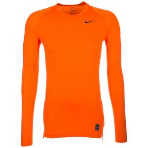 Pro Dry Compression Trainingsshirt Herren, orange / schwarz, zoom bei OUTFITTER Online