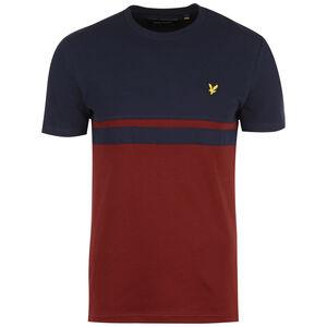 Panel Stripe T-Shirt Herren, dunkelblau / rot, zoom bei OUTFITTER Online