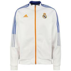 Real Madrid Anthem Jacke Herren, weiß / blau, zoom bei OUTFITTER Online