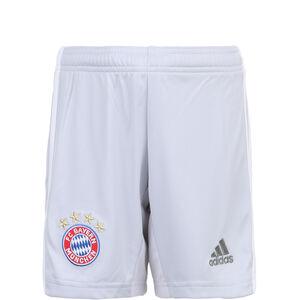 FC Bayern München Short Away 2019/2020 Kinder, hellgrau / weiß, zoom bei OUTFITTER Online