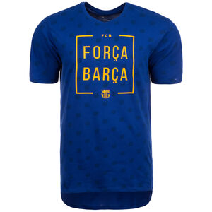 FC Barcelona Squad T-Shirt Herren, Blau, zoom bei OUTFITTER Online