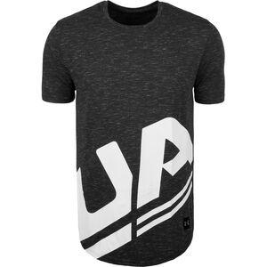 HeatGear Sportstyle Branded Trainingsshirt Herren, anthrazit / weiß, zoom bei OUTFITTER Online