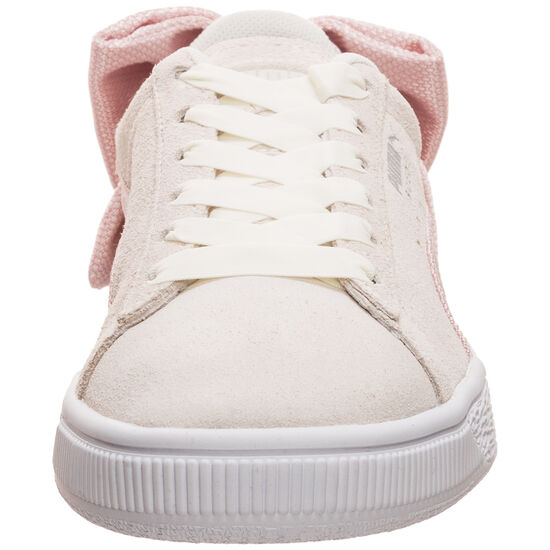 Suede Bow Hexamesh Sneaker Damen, beige / rosa, zoom bei OUTFITTER Online