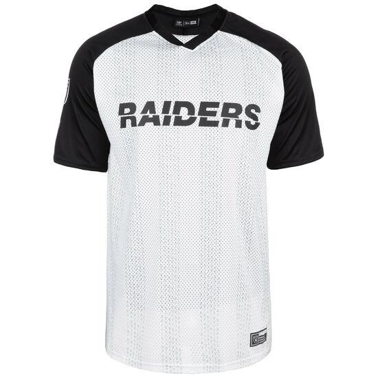 NFL Oakland Raiders Stripe Oversized T-Shirt Herren, weiß / schwarz, zoom bei OUTFITTER Online