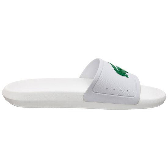Croco Slide Badesandale Herren, weiß / grün, zoom bei OUTFITTER Online