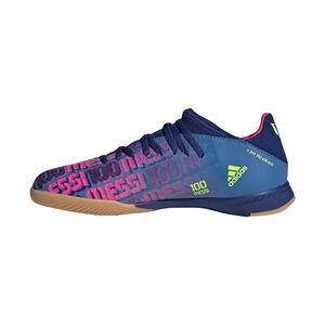 X Speedflow Messi.3 Indoor Fußballschuh Kinder, blau / pink, zoom bei OUTFITTER Online