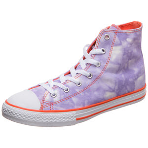 Chuck Taylor All Star High Sneaker Kinder, lila / orange, zoom bei OUTFITTER Online