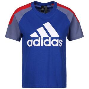 Colorblock T-Shirt Damen, blau / weiß, zoom bei OUTFITTER Online
