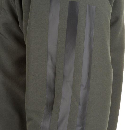 3-Streifen Hooded Insulated Kapuzenjacke Herren, graugrün / schwarz, zoom bei OUTFITTER Online