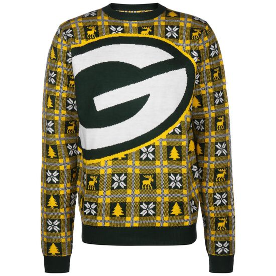 NFL Green Bay Packers Big Logo Sweatshirt Herren, dunkelgelb / weiß, zoom bei OUTFITTER Online
