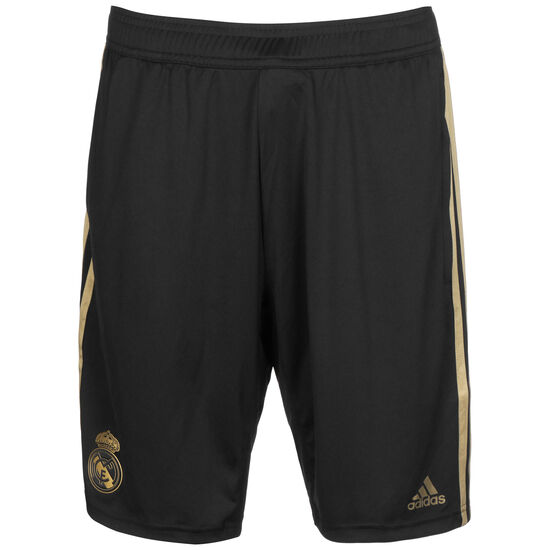 Real Madrid Trainingsshort Herren, schwarz / gold, zoom bei OUTFITTER Online