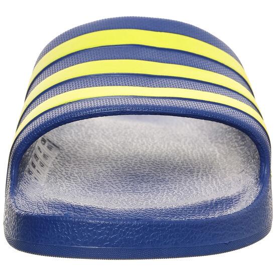 Aqua Adilette Badesandale, blau / gelb, zoom bei OUTFITTER Online