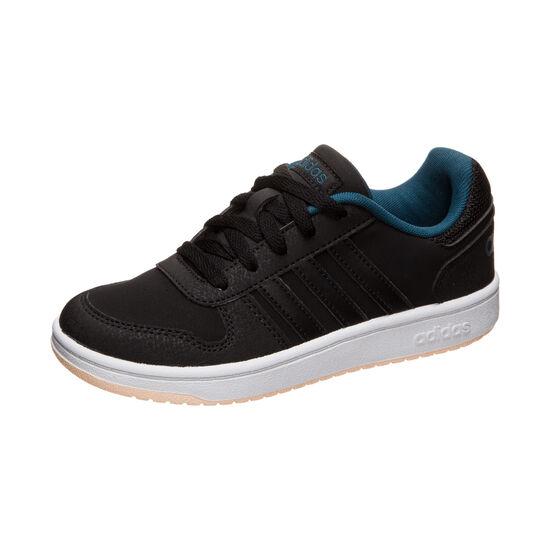 Hoops 2.0 Sneaker Kinder, schwarz / mintgrün, zoom bei OUTFITTER Online