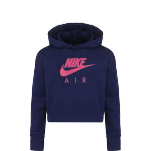 Air Cropped Kapuzenpullover Kinder, dunkelblau / pink, zoom bei OUTFITTER Online