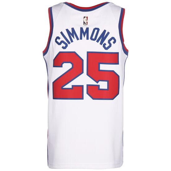 NBA Philadelphia 76ers City Edition Ben Simmons Swingman Basketballtrikot Herren, weiß / rot, zoom bei OUTFITTER Online