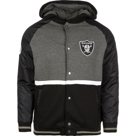 NFL Oakland Raiders Varsity Kapuzenjacke Herren, Grau, zoom bei OUTFITTER Online