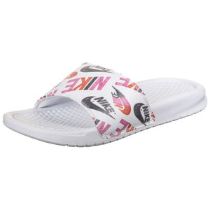 Benassi Just Do It Print Badesandale Damen, weiß / pink, zoom bei OUTFITTER Online