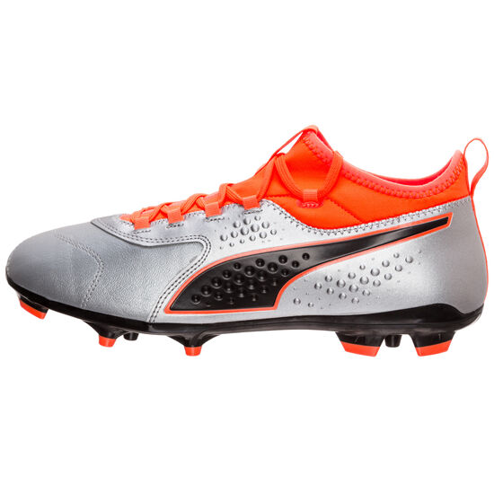 ONE 3 Leather AG Fußballschuh Herren, Silber, zoom bei OUTFITTER Online