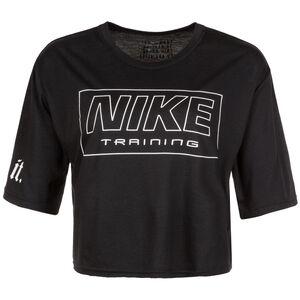 Cropped Trainingsshirt Damen, schwarz, zoom bei OUTFITTER Online