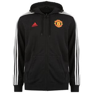 Manchester United 3-Streifen Kapuzenjacke Herren, schwarz / weiß, zoom bei OUTFITTER Online